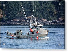 Sun Fisher Off Campbell River Acrylic Print