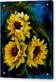 Sun Flowers 1 Acrylic Print