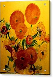 Sun Flowers Copy Acrylic Print