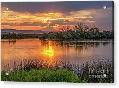 Sun Glow On The Snake River Acrylic Print