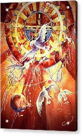 Sun God Acrylic Print by Connie Williams
