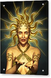 Sun Goddess Acrylic Print