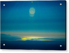 Sun Going Down On The Sound Acrylic Print