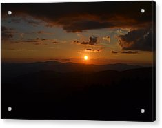 Sun Going Down Over The Great Smoky Mountains Acrylic Print