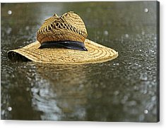 Sun Hat In The Rain Acrylic Print