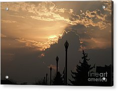 Sun In A Cloud Of Glory Acrylic Print by Andee Design
