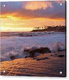 Acrylic Print featuring the photograph Sun Kissed Coast by Cliff Wassmann