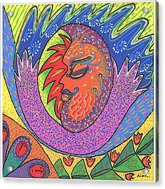 Sun Man Acrylic Print by Sharon Nishihara
