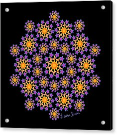 Sun Moon And Stars Acrylic Print