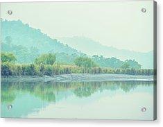 Sun Moon Lake Pastels Acrylic Print
