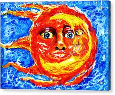 Acrylic Print featuring the painting Sun Moon by Shelley Bain