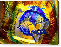 Acrylic Print featuring the painting Sun Of A Moon by Omaste Witkowski