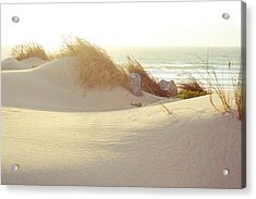 Sun On Beach Acrylic Print by Guillermo Casas Baruque