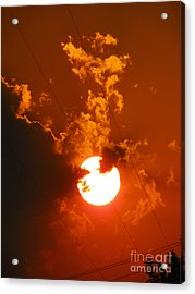Sun On Fire Acrylic Print