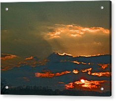 Sun Peering Through The Clouds Acrylic Print