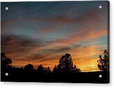 Sun Pillar Sunset Acrylic Print