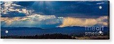 Sun Rays And Rain Acrylic Print by Dennis Wagner