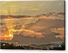 Sun Rays At Sunrise Acrylic Print by Thomas R Fletcher