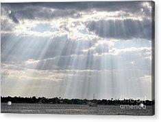 Sun Rays Over Lagoon Acrylic Print