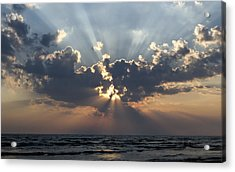 Sun Rays Acrylic Print by Peter Chilelli