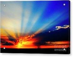 Acrylic Print featuring the photograph Sun Rays by Scott Kemper