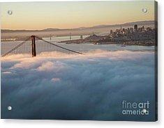 Acrylic Print featuring the photograph Sun Rise At Golden Gate Bridge by David Bearden