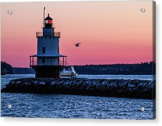 Sun Rise At Spring Point Acrylic Print