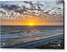 Sun Rising Over Atlantic Acrylic Print by Elena Elisseeva
