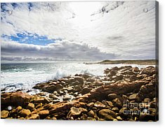 Sun Rising Over The Ocean Acrylic Print by Jorgo Photography - Wall Art Gallery