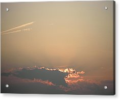 Sun Setting Behind The Clouds Acrylic Print by Kate Gallagher