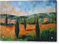 Sun Set In Provence Acrylic Print