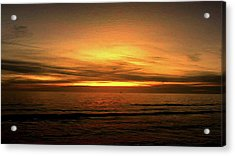 Sun Set On The Gulf Acrylic Print