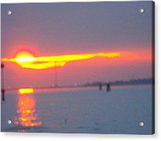 Sun Sets Over Venice IIi Acrylic Print by Viviana Puello Villa