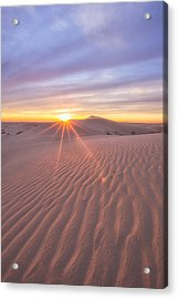 Acrylic Print featuring the photograph Sun Setting At The Dunes by Patricia Davidson
