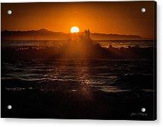 Sun Setting Behind Santa Cruz Island Acrylic Print