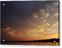 Sun Settles On Connecticut Acrylic Print by Karol Livote