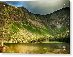 Sun Shining On Chimney Pond  Acrylic Print