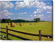 Acrylic Print featuring the photograph Sun Shone Hay Made by Byron Varvarigos