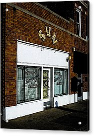 Acrylic Print featuring the photograph Sun Studio by Jim Mathis