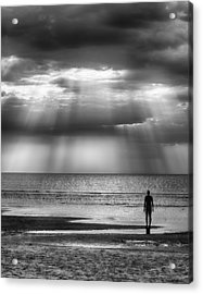 Sun Through The Clouds Bw 11x14 Acrylic Print