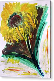 Acrylic Print featuring the painting Sun Tilt by Mary Carol Williams