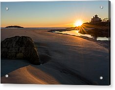 Sun Up Good Harbor Acrylic Print by Michael Hubley