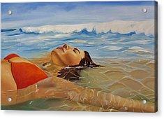 Sunbather Acrylic Print by Crimson Shults