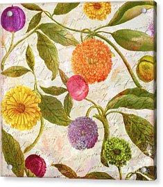 Sunbathers Botanical I Acrylic Print by Mindy Sommers