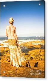 Sunbathing By The Sea Acrylic Print
