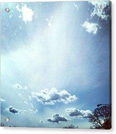 Sunbeam In The Clouds. #cloudscape Acrylic Print