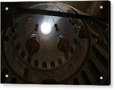 Sunbeams At The Church Of The Holy Sepulchre Acrylic Print by Heidi Pix