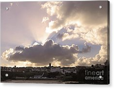 Acrylic Print featuring the photograph Sunbeams Over Church In Color by Nicholas Burningham