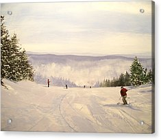 sunbowl at Stratton Mountain Vermont Acrylic Print