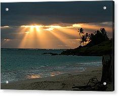 Sunburst At Kailua Acrylic Print